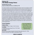 The water-energy nexus: Webinar from POLIS Water Sustainability Project