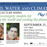 "Event: Food Sovereignty models for ""feeding the world and cooling the planet"""