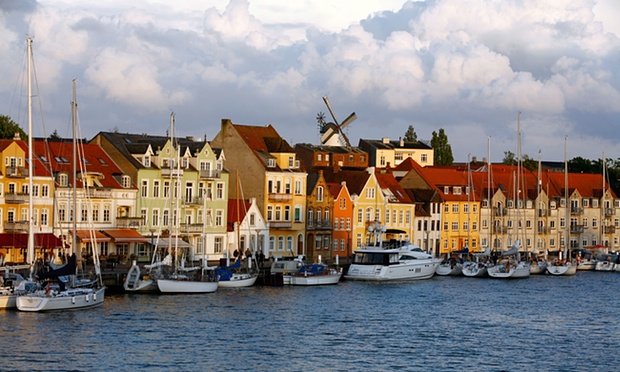 The coastal town of Sønderborg has developed a strategy to go zero carbon by 2029. Photograph: Robert Harding Picture Library Ltd/Alamy