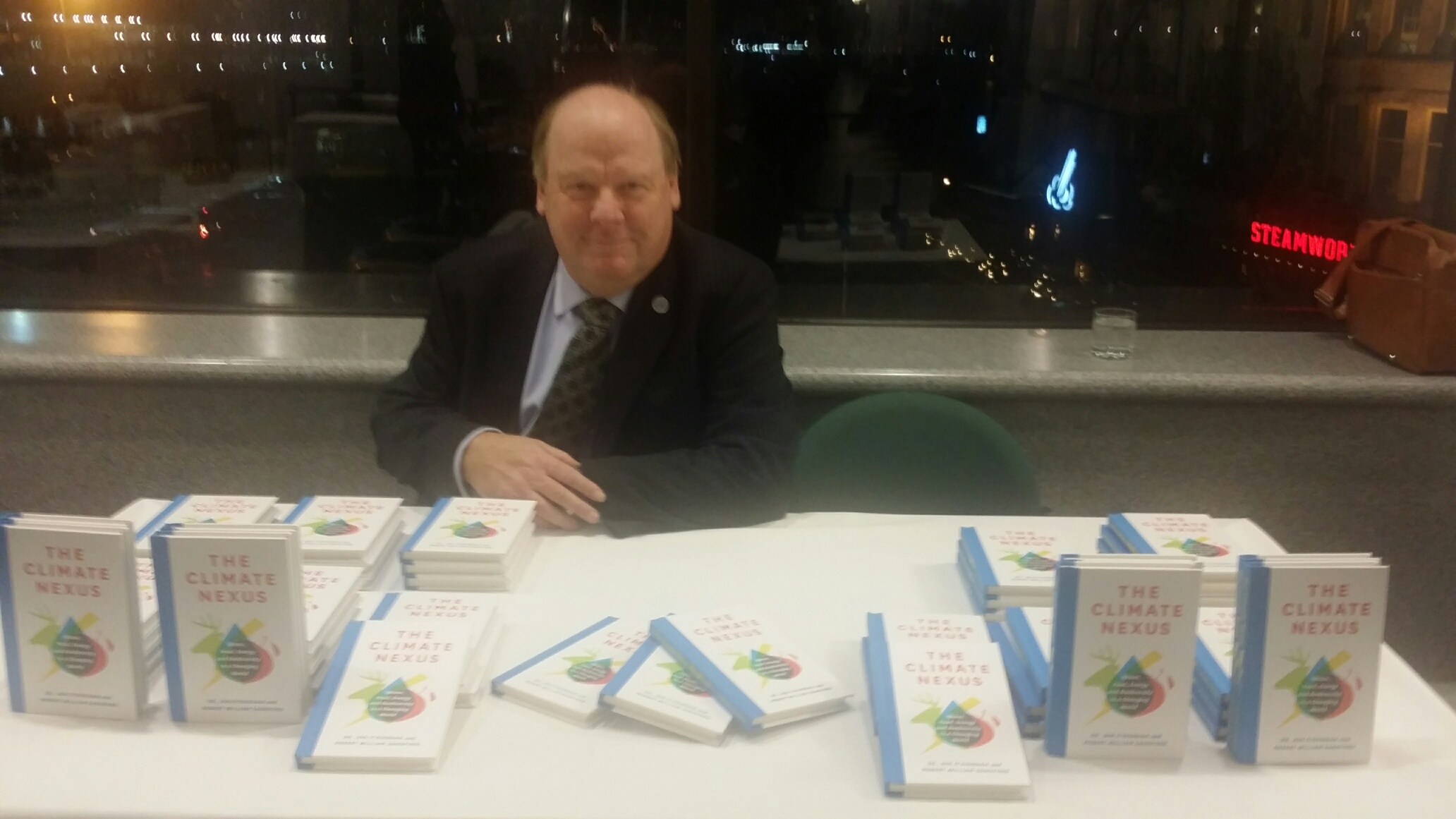 Co-author Bob Sandford with the new book