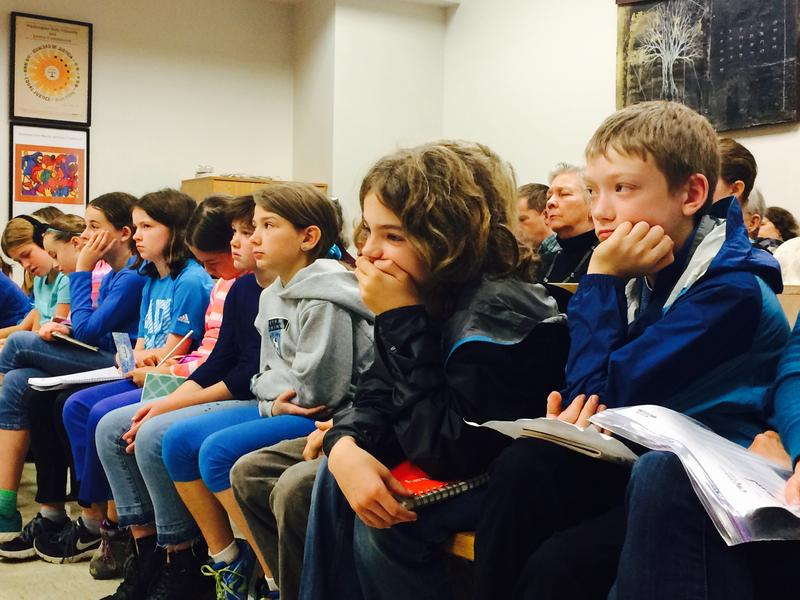 Kids filled the benches of King County Superior Court before Judge Hollis R. Hill to hear oral arguments about climate change, on November 3rd, 2015. BELLAMY PAILTHORP KPLU