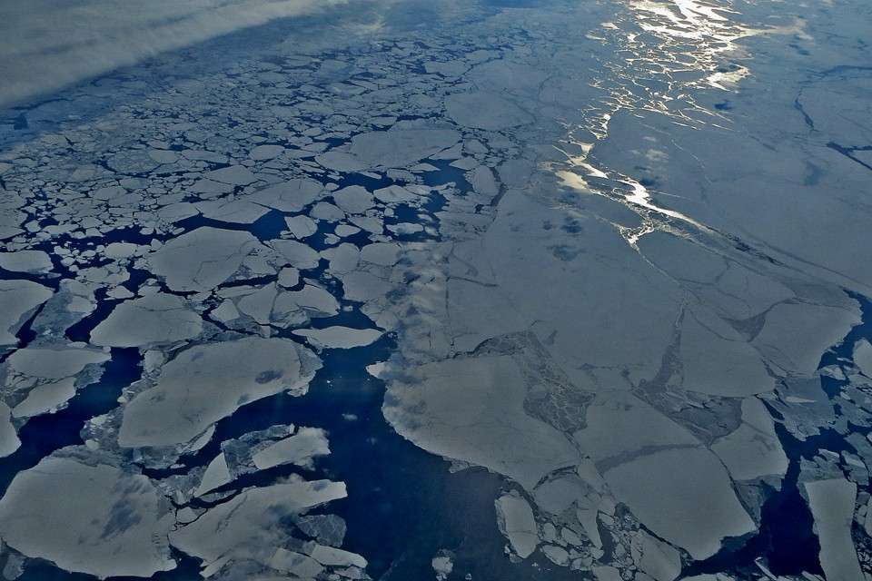 Arctic sea ice in the spring. Source: The Atlantic; Wasif Malik, Flickr