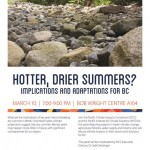 Ideafest Seminar: Hotter, Drier Summers? Implications and Adaptations for BC