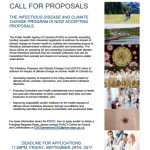 Call for Funding Requests - Infectious Diseases and Climate Change Fund