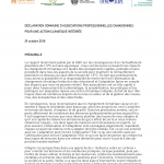 National Professional Associations Support Integrated Climate Action