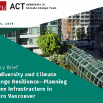 Biodiversity and Climate Change Resilience - Planning Green Infrastructure Policy Brief and Concept Note