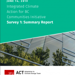 (June 14) Integrated Climate Action for BC Communities Initiative: Summary of Survey One Findings